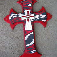 """Handmade Wall Cross, Home and Living, House Wares, Western Decor,Wall Hanging, Southwestern 22"""""""