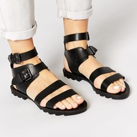 Truffle Collection | Truffle Collection Sybil Strappy Flat Sandals at ASOS