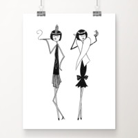 Eloise and Ramona Prepare for a Night on the Town art print