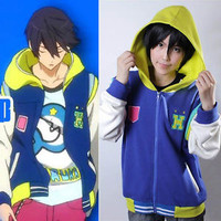 Free! - Iwatobi Swim Club Haruka Nanase Cosplay Baseball Jacket Coat customize