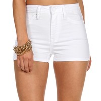 White Denim High Rise Shorts
