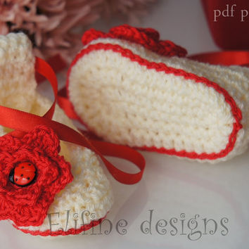 Crochet pattern,crochet ballet shoes,crochet booties,baby shower,diy,baby,patterns,crochet for babies,crochet shoes,pattern,crochet boots