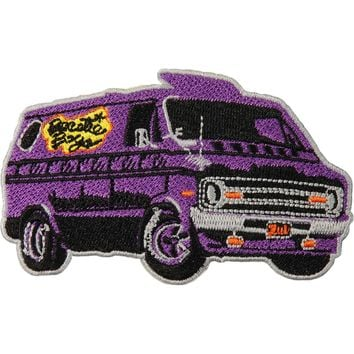 Beastie Boys Men's Van Embroidered Patch Purple