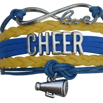Cheer Bracelet- Girls Cheerleading Bracelet- Cheer Jewelry - Perfect Gift For Cheerleader