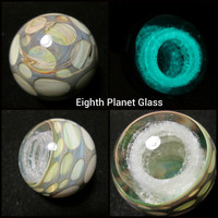 Marble - Glow In The Dark Art Glass - Hollow Planet