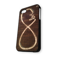 Wood Infinity Love iPhone 4/4S Case