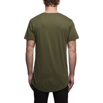 John Elliott + Co Curve U-neck Tee in Olive | Atrium