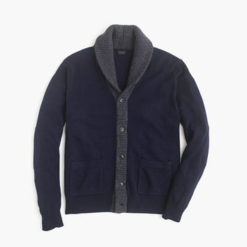 J.Crew Mens Slim Softspun Contrast Cardigan Sweater