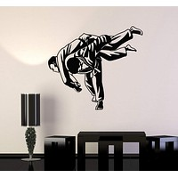 Wall Decal Martial Arts MMA Fight Jiu Jitsu Sports Vinyl Stickers Unique Gift (ig3002)