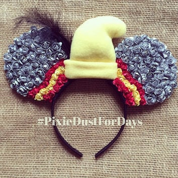 Dumbo Disney ears, dumbo ears, dumbo Mickey ears, dumbo floral ears, dumbo elephant headband