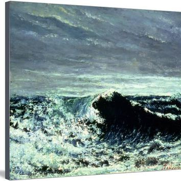 The Wave, C.1869 Giclee Print by Gustave Courbet at Art.com