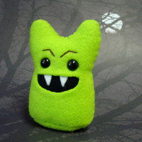 Vampire Something - Green Halloween Stuffed Monster