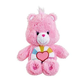 Just Play Care Bear Fluffy Friends Bean Hopeful Heart Plush, Perfect for collecting and cuddling By Care Bears - Walmart.com