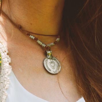 Coin Necklace Boho Bohemian Choker Necklace Collar Afgan Kuchi Coin Macrame Knotted Woven Hipster Hippie Gypsy FatimaN