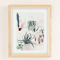 Alicia Galer Potted Garden Art Print | Urban Outfitters