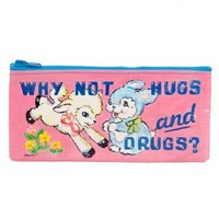 Why Not Hugs & Drugs Pencil Case - Dream in Plastic