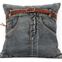Jean Cushion Blue Denim w/ Front Jean