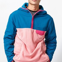HUF Muir Hooded Colorblock Quarter Zip Jacket at PacSun.com