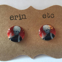 Handmade Plastic Fandom Earrings - Comic Pinup - Killer Frost