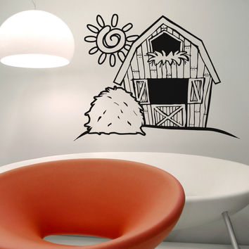 Vinyl Wall Decal Sticker Barn #OS_AA598