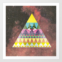 Pyramid in Space. Art Print by Nick Nelson | Society6