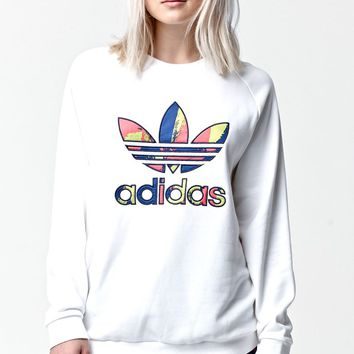 Paris Logo Crew Neck Sweatshirt - Womens Hoodie - White