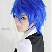 iLoveCos Vocaloid Kaito Cosplay Blue Short Party Hair Costume Wig