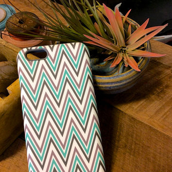 iPhone 6 Case  Mint Green Cell Case  Samsung Galaxy Chevron  Cell Case Monogram Case