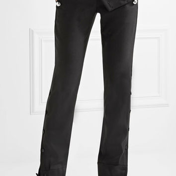 Monse - Embellished stretch wool-blend twill flared pants