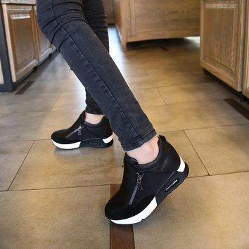 dropshipping Women Casual Platform Shoes High Heels Shoes Woman Trainers Shoes Wedges Loafers Height Increasing size 41 42