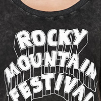 Somedays Lovin Rocky Mountain Festival Acid Wash Short Sleeve T-Shirt at PacSun.com