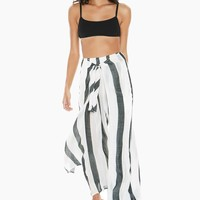 Annie High Waisted Pants - Beach Bum Stripe