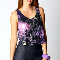 Claire Galaxy Swing Top