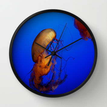 Blue Jellyfish Wall Clock by UMe Images