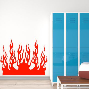 Vinyl Wall Decal Forks Of Flame Fire Cool Room Decor Stickers (2563ig)