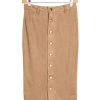 Ali Suede Pencil Skirt