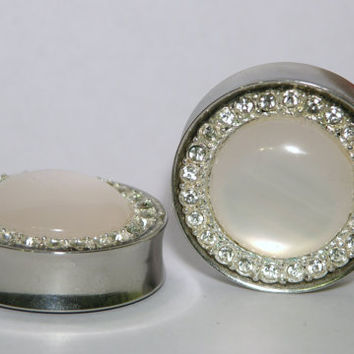 "Diamond Wedding Plugs 1 1/8"" 1 1/4 1 5/16 1 3/8 Inch 30mm 32mm 34mm"