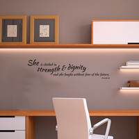 Strength & Dignity Proverbs 31 Quote