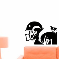 Football Player Wall Decal Vinyl Sticker Sport Wall Decor Home Interior Design Art Mural Boy Room Kids Nursery Z739