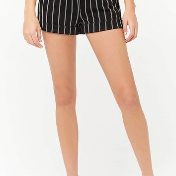 Striped Knit Shorts