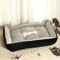 Plus Size Comfortable Warm Sofa Dog Bed House Home Kennel for Large and Small Dogs Plush Cozy Nest Dog House Pad Warm Pet House