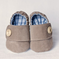 0-3 MONTHS, Ready-to-ship, Baby boy shoes, corduroy shoes, fabric shoes, cloth shoes, baby slippers