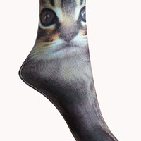Cat Graphic Crew Sock Set