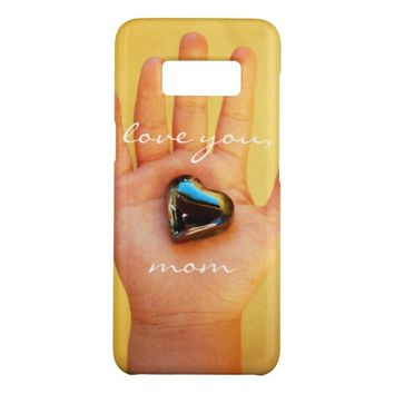 """Love You Mom"" Cute Child's Hand Holding Heart Case-Mate Samsung Galaxy S8 Case"