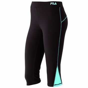 FILA SPORT Colorblock Active Capri Yoga Leggings - Women's