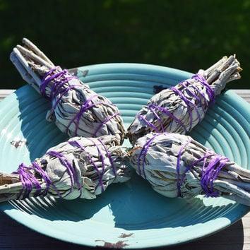 Small White Sage Stick - Smudging With Sage Clears Negative Energy & Spirits