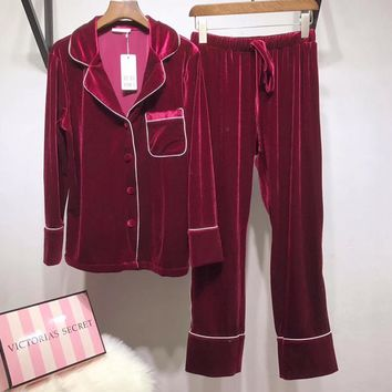 Victoria's Secret Women Silk Satin Pajamas Set Pajama Pyjamas Set Sleepwear Loungewear