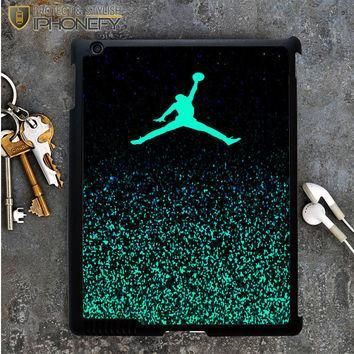 Nike Air Jordan Jump Mint Glitter iPad 4 iPad 5 Case|iPhonefy