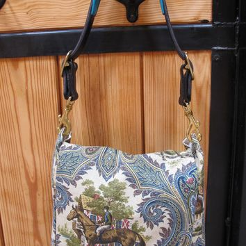 Old English Horse Hippie Flap Bag