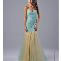 Nina Canacci 7311 Mint Green Lace Mermaid Dress 2015 Prom Dresses